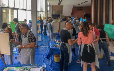 Schilderworkshop in de RAI groot succes !